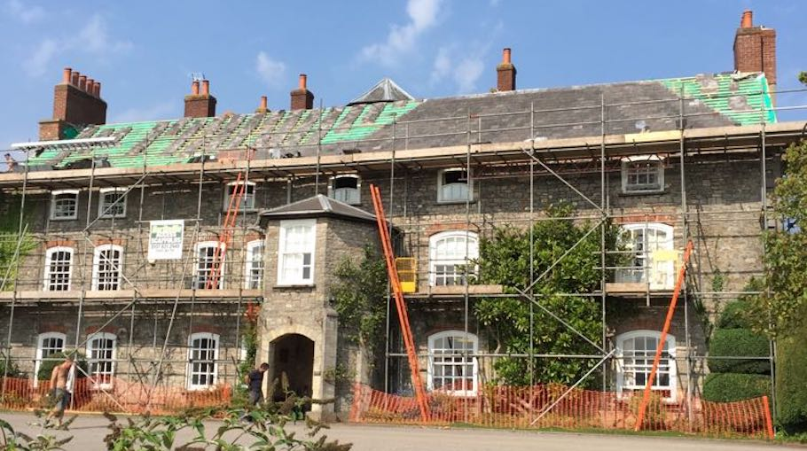 Sage Roofing South West | Our Services | Leadwork | Tockington Manor School During Image